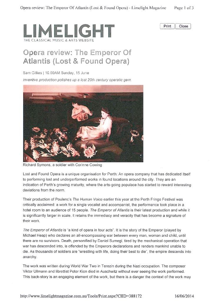 Review Emperor of Atlantis (Lost & Found Opera) - Limelight Magazine_Page_1